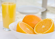 Refreshing Oranges and Juice Royalty Free Stock Photography