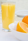 Refreshing Oranges and Juice Stock Image