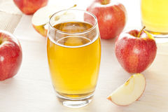 Refreshing Organic Apple Juice Stock Photo