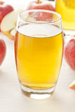 Refreshing Organic Apple Juice Stock Photography