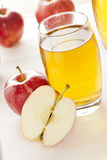 Refreshing Organic Apple Juice Stock Images