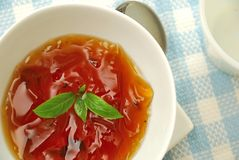 Refreshing Oriental jelly dessert Stock Photography