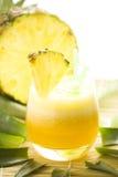 Refreshing pineapple and orange milkshake Royalty Free Stock Photo
