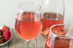 Refreshing Pink Rosé Wine. Refreshing Pink Rosé Wine in a Glass Royalty Free Stock Image