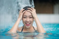Refreshing in the pool Stock Photography