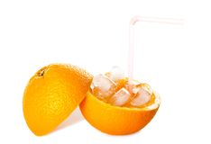 Refreshing Pure Iced Orange Juice Stock Photo