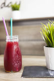 Refreshing raspberry drink Stock Photo