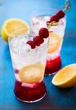 Refreshing Raspberry Drink Stock Photos