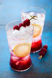 Refreshing Raspberry Drink Stock Photo