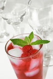 Refreshing Red Cocktail Beverage Stock Images