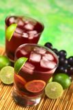 Refreshing Red Grape Lemonade Royalty Free Stock Photos