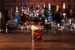 Refreshing Rum and Cola Cocktail royalty free stock photo