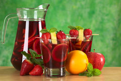 Refreshing Sangria Royalty Free Stock Photos