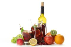 Refreshing sangria Stock Image