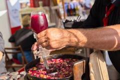 Free Refreshing Sangria Served On Food Stall. Stock Image - 73681841