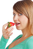 Refreshing strawberry Royalty Free Stock Image