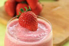 Refreshing Strawberry smoothie Royalty Free Stock Image