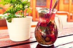 Refreshing summer berries lemonade Stock Images