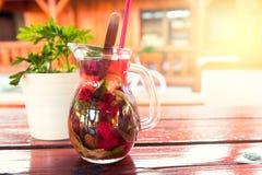 Refreshing summer berries lemonade Royalty Free Stock Photo
