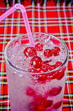 Refreshing summer cocktail with berries Royalty Free Stock Photos