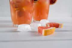 Refreshing summer cocktails with citrus fruits Stock Photos