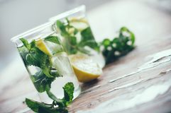 Refreshing summer detox drink Stock Photography