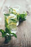 Refreshing summer detox drink Stock Photos