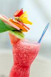Refreshing summer drink with strawberries Royalty Free Stock Photo