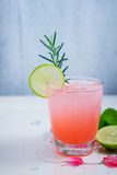 Refreshing summer drink with Strawberry Stock Photography