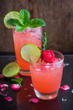 Refreshing summer drink with Strawberry Royalty Free Stock Photo
