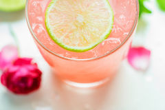 Refreshing summer drink with Strawberry Stock Photo