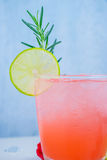 Refreshing summer drink with Strawberry Stock Images
