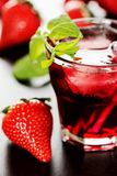 Refreshing summer drink with Strawberry Stock Image