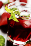 Refreshing summer drink with Strawberry. In glass Royalty Free Stock Photo