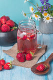 Refreshing summer drink with Strawberry Royalty Free Stock Image