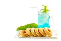 Refreshing summer drinks in jar Royalty Free Stock Photo