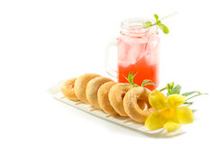 Refreshing summer drinks in jar Royalty Free Stock Photography
