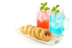Refreshing summer drinks in jar Royalty Free Stock Image