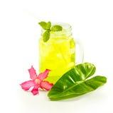 Refreshing summer drinks in jar Royalty Free Stock Photos