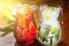 Refreshing summer drinks Stock Photography