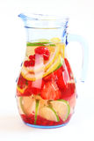Refreshing summer ice tea. Or lemonade with fresh fruits Royalty Free Stock Image