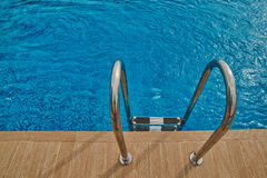 Refreshing Swimming Pool Stairs Royalty Free Stock Photo