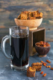 Refreshing a traditional Russian drink - kvass. Royalty Free Stock Photos