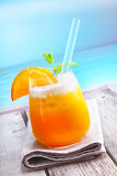 Refreshing tropical orange cocktail Stock Photo