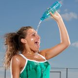 Refreshing with water Stock Images