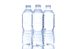 Refreshing water in a bottle Stock Image