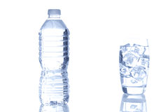 Refreshing water in a bottle Royalty Free Stock Image