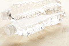 Refreshing water in a bottle Royalty Free Stock Photos