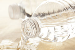 Refreshing water in a bottle Stock Photo