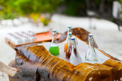 Refreshing water and juices Royalty Free Stock Photos